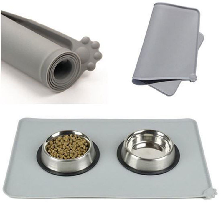 Dog Cat Food and Water Feeding Mat Placemat Waterproof
