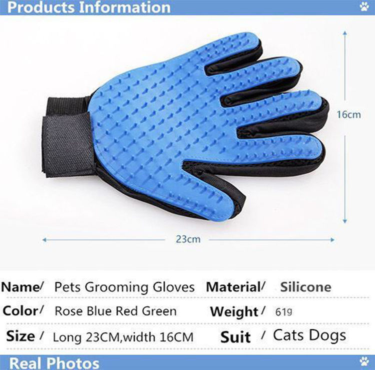 Dog Cat Grooming Glove Silicon Hair Removal Comb