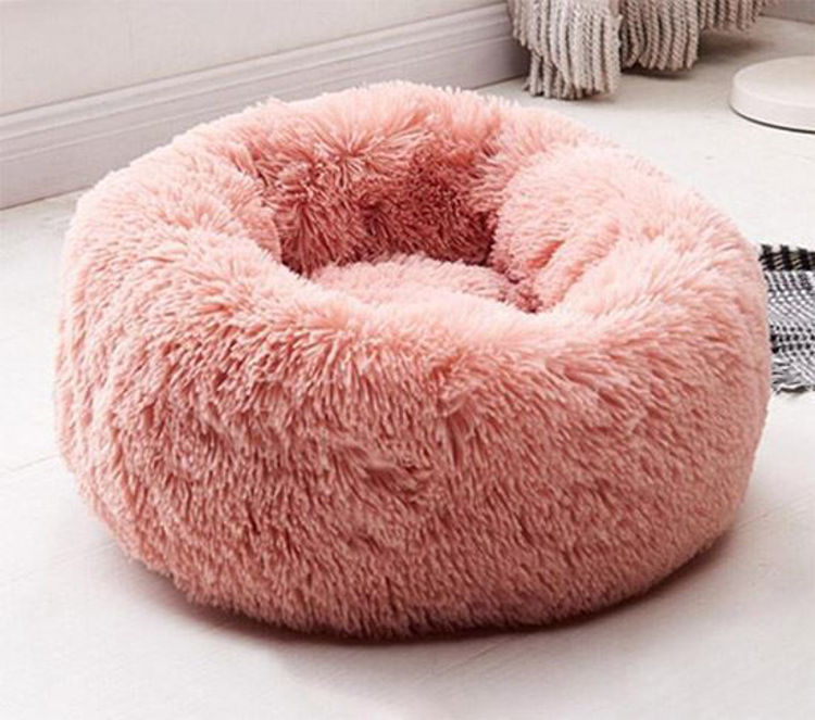 Dog Cat Soft Plush Bed Pink