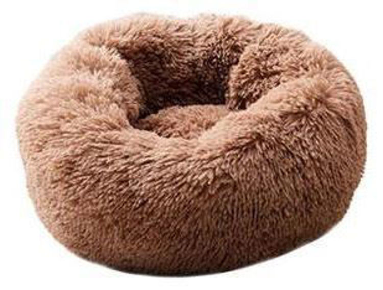 Dog Cat Soft Plush Bed Coffee