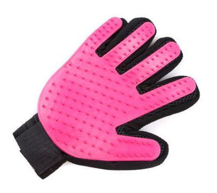 Dog Cat Grooming Glove Silicon Hair Removal Comb Rose