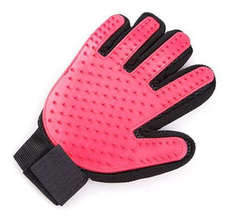 Dog Cat Grooming Glove Silicon Hair Removal Comb Red