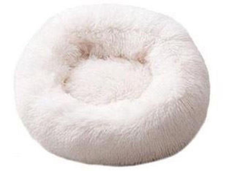 Dog Cat Soft Plush Bed White