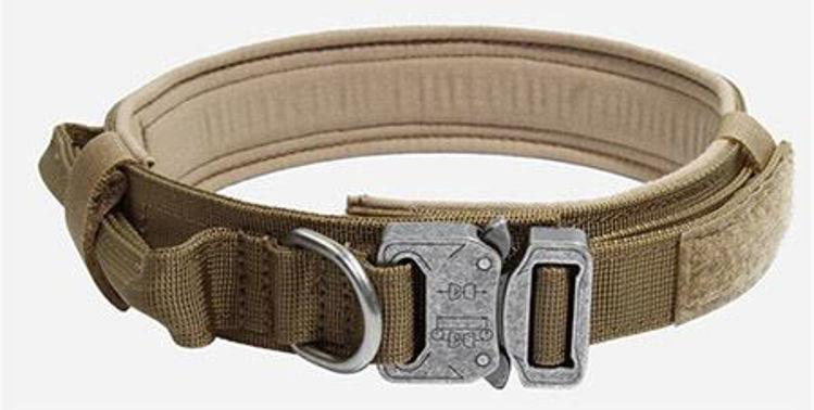 Military Dog Tactical Collar Necklace Tan